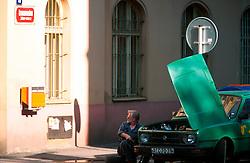 CZECH REPUBLIC PRAGUE JUL00 - Street scene in  Prague's Zizkov district, a traditional workers stronghold where the majority of Prague's Romany population has settled over the past decades.. . jre/Photo by Jiri Rezac. . © Jiri Rezac 2000. . Tel:   +44 (0) 7050 110 417. Email: info@jirirezac.com. Web:   www.jirirezac.com