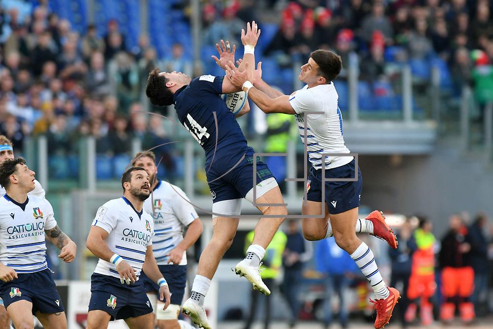 Roma 22/02/2020 Stadio Olimpico<br /> Guinness 6 nations 2020 : Italia vs Scozia<br /> Sean Maitland e Tommaso Allan