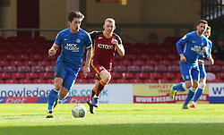 Alex Woodyard of Peterborough United in action with Lewis O'Brien of Bradford City - Mandatory by-line: Joe Dent/JMP - 09/03/2019 - FOOTBALL - Northern Commercials Stadium - Bradford, England - Bradford City v Peterborough United - Sky Bet League One