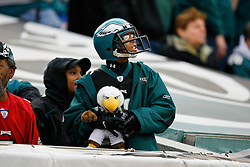 A young fan watches the game action during the NFL game between the New York Giants and the Philadelphia Eagles on November 1st 2009. The Eagles won 40 to 17 at Lincoln Financial Field in Philadelphia, Pennsylvania. (Photo By Brian Garfinkel)