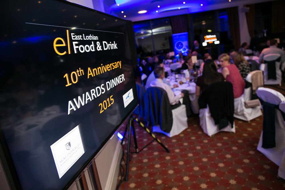 Photographing the East Lothian Council Awards dinner in North Berwick