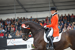 Van Liere Dinja, (NED), Hexagons Roumanda<br /> V2 Facility Prijs - Grand Prix U25<br /> Dutch Championship Dressage - Ermelo 2015<br /> © Hippo Foto - Dirk Caremans<br /> 19/07/15