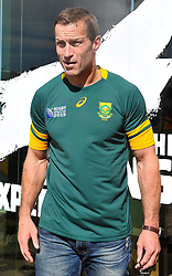 """Cape Town. 150803. Cornelius Petrus Johannes """"Corné"""" Krige is a retired South African rugby union player. He played flanker for Western Province in the Currie Cup, the Stormers in Super Rugby and captained the South African national side, the Springboks. Born: March 21, 1975  Lusaka, Zambia. Height: 1.90 m. Weight: 102 kg Spouse: Justine Krige. <br /> Education: Paarl Boys' High School. pic Courtney Africa"""