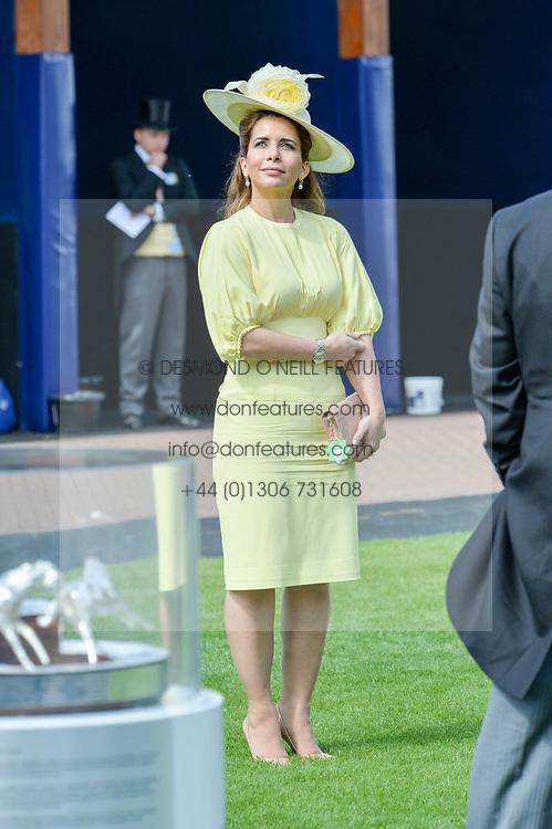 Princess Haya of Jordan at The Investec Derby, Epsom, Surrey England. 3 June 2017.<br /> Photo by Dominic O'Neill/SilverHub 0203 174 1069 sales@silverhubmedia.com