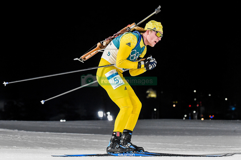 February 18, 2018 - Pyeongchang, Gangwon, South Korea - Sebastian Samuelsson of Sweden  competing in  15 km mass start biathlon at Alpensia Biathlon Centre, Pyeongchang,  South Korea on February 18, 2018. (Credit Image: © Ulrik Pedersen/NurPhoto via ZUMA Press)