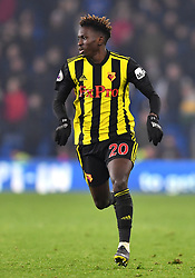 Watford's Domingos Quina in action during the Premier League match at the Cardiff City Stadium.