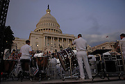The U.S. Capitol in Washington D.C. on August 1, 2011 at sunset