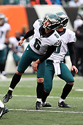 Philadelphia Eagles kicker Caleb Sturgis (6) tilts his head and body to one side as he misses a second quarter field goal that bounces off the upright during the 2016 NFL week 13 regular season football game against the Cincinnati Bengals on Sunday, Dec. 4, 2016 in Cincinnati. The Bengals won the game 32-14. (©Paul Anthony Spinelli)