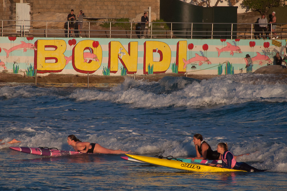Bondi Surf Life Savers in Training, Bondi Beach, Sydney, New South Wales, Australia