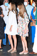 Crown Princess Leonor, Princess Sofia visit to the National Museum of Roman Art on July 22, 2020 in Merida, Spain