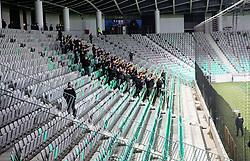 Supporters Green Dragons during  football match between NK Olimpija and NK CB24 Tabor Sezana in 35th Round of Prva liga Telekom Slovenije 2020/21, on May 19, 2021 in SRC Stozice, Ljubljana, Slovenia. Photo by Vid Ponikvar / Sportida