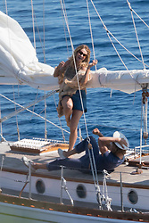 "Lily James and Josh Dylan filming a scene of ""Mamma Mia 2 - Here We Go Again"" in Vis, Croatia. 13 Sep 2017 Pictured: Lily James, Josh Dylan. Photo credit: MEGA TheMegaAgency.com +1 888 505 6342"