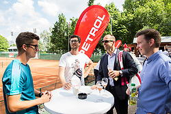 Andraz Bedene, Miha Mlakar, Ziga Koscak at Petrol VIP tournament 2018, on May 24, 2018 in Sports park Tivoli, Ljubljana, Slovenia. Photo by Vid Ponikvar / Sportida
