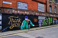 République d'Irlande, Dublin, peinture murale dans le centre ville // Republic of Ireland; Dublin, wall painting in the city center