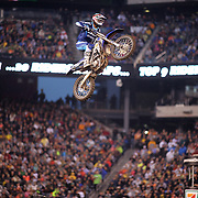 Bryce Stewart, Yamaha, in action during the 250SX Class Championship during round 16 of the Monster Energy AMA Supercross series held at MetLife Stadium. 62,217 fans attended the event held for the first time at MetLife Stadium, New Jersey, USA. 26th April 2014. Photo Tim Clayton