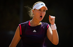 May 14, 2019 - Rome, ITALY - Kristina Mladenovic of France in action during her first-round match at the 2019 Internazionali BNL d'Italia WTA Premier 5 tennis tournament (Credit Image: © AFP7 via ZUMA Wire)