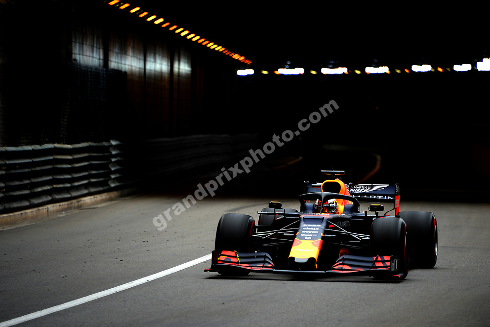 Max Verstappen (Red Bull-Honda) during practice before the 2019 Monaco Grand Prix. Photo: Grand Prix Photo