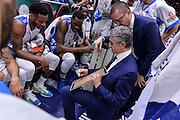 DESCRIZIONE : Sassari LegaBasket Serie A 2015-2016 Dinamo Banco di Sardegna Sassari - Giorgio Tesi Group Pistoia<br /> GIOCATORE : Marco Calvani<br /> CATEGORIA : Allenatore Coach Time Out<br /> SQUADRA : Dinamo Banco di Sardegna Sassari<br /> EVENTO : LegaBasket Serie A 2015-2016<br /> GARA : Dinamo Banco di Sardegna Sassari - Giorgio Tesi Group Pistoia<br /> DATA : 27/12/2015<br /> SPORT : Pallacanestro<br /> AUTORE : Agenzia Ciamillo-Castoria/L.Canu