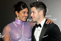 May 18, 2019 - Cannes, France - Nick Jonas, Priyanka Chopra. ''Love'' party Chopard in Cannes 2019.. Pictures: Laurent Guerin / EliotPress Set ID: 600942....239424 2019-05-17  Cannes France. (Credit Image: © Laurent Guerin/Starface via ZUMA Press)