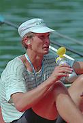 Lucerne, Switzerland. 1995 FISA WC III, Lake Rottsee, Lucerne,<br /> EST. Jueri JAANSON, <br /> [Mandatory Credit. Peter SPURRIER/Intersport Images]<br /> <br /> Image scanned from Colour Negative