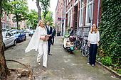 Koningin Maxima bezoekt bezoekt buurthuis Thuis in West