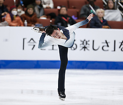 February 7, 2019 - Los Angeles, California, U.S - Vincent Zhou of USA competes in the Men Short Program during the ISU Four Continents Figure Skating Championship at the Honda Center in Anaheim, California on February 7, 2019. (Credit Image: © Ringo Chiu/ZUMA Wire)