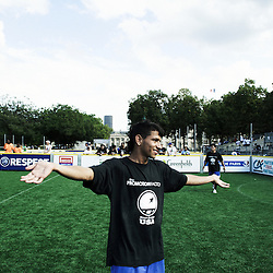 PARIS, FRANCE. AUGUST 23, 2011. The U.S. Streetsoccer team playing again Netherlands at the Homeless World Cup. Photo: Antoine Doyen