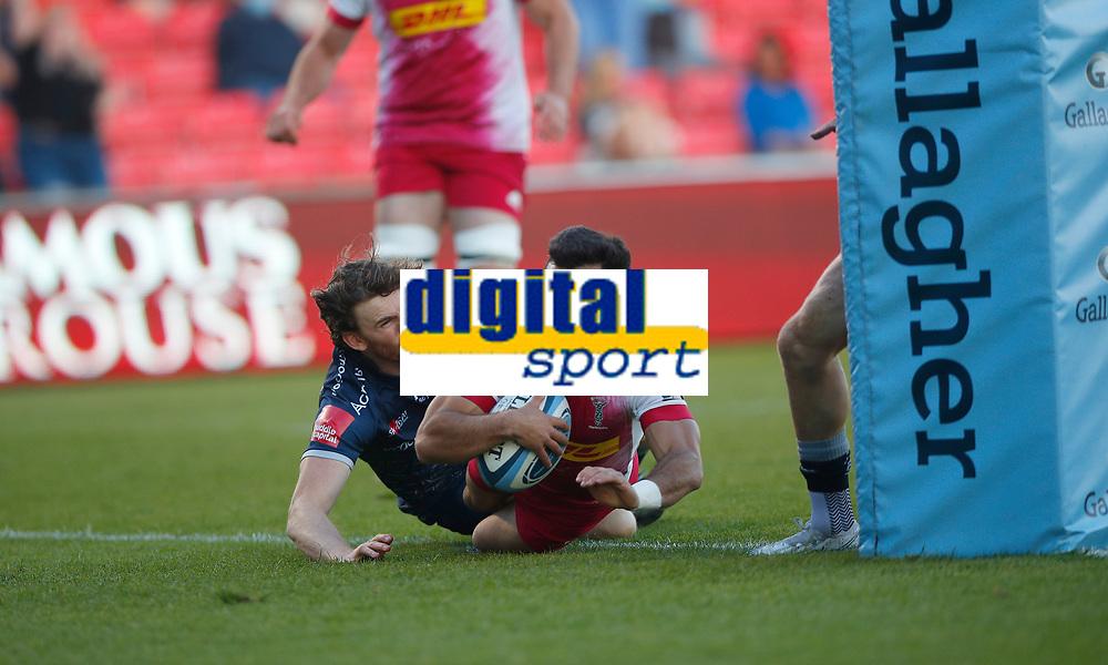 Rugby Union - 2020 / 2021 Gallagher Premiership - Round 21 - Sale Sharks vs Harlequins - A J Bell Stadium<br /> <br /> Martin Landajo of Harlequins scores a try at AJ Bell Stadium<br /> <br /> Credit COLORSPORT/LYNNE CAMERON