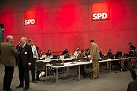 DEU, Deutschland, Germany, Berlin, 10.12.2015: Bereich für Blogger beim Bundesparteitag der SPD im CityCube.