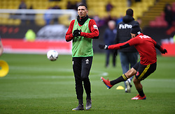 Watford's Jose Holebas warms up ahead of the match