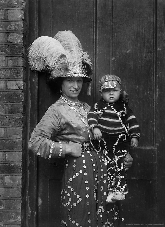 """""""Pearlies,"""" Master & Miss Simmons, England, 1922"""