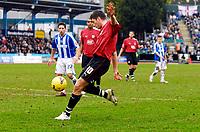 Photo: Alan Crowhurst.<br />Brighton & Hove Albion v Bristol City. Coca Cola League 1. 24/02/2007. Bristol's Phil Jevons scores 0-1.