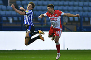 Adam Reach, Ryan Leonard during the EFL Sky Bet Championship match between Sheffield Wednesday and Millwall at Hillsborough, Sheffield, England on 7 November 2020.