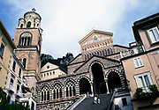 Medieval Roman Catholic cathedral church, Piazza del Duomo, Amalfi, Italy in 1998