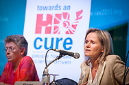 7th IAS Conference on HIV Pathogenesis, Treatment and Prevention (IAS 2013), Kuala Lumpur, Malaysia.<br /> Photo shows Sharon Lewin, Australia, speaking at the Official Press Conference of 'Towards an HIV Cure'. <br /> Photo © Steve Forrest/Workers' Photos