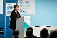 DEUTSCHLAND - BONN - Patricia Espinosa, UNFCCC Generalsekretärin; spricht an der Präsentation der 'World Alliance for Efficient Solutions' der Solar Impulse Foundation, auf der Klimakonferenz COP 23 Fiji in Bonn - 14. November 2017 © Raphael Hünerfauth - http://huenerfauth.ch