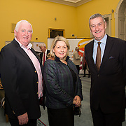08.12.2016                   <br /> Pictured at the launch of the Shannon Airport Christmas Racing Festival at Hunt Museum were, Gerry and Mary Mullins and Leo Powell. Picture: Alan Place
