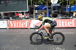 Alison Tetrick (USA) of Cylance Pro Cycling digs deep during the La Course, a 89 km road race in Paris on July 24, 2016 in France.