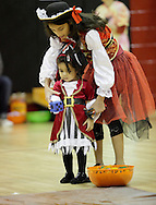Middletown, New York  - Children in costumes play games in the gymnasium during the Middletown YMCA Family Fall Festival on Oct. 29, 2011. ©Tom Bushey / The Image Works