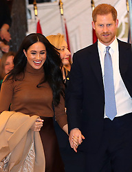 The Duke and Duchess of Sussex leaving after their visit to Canada House, central London, to meet with Canada's High Commissioner to the UK, Janice Charette, as well as staff, to thank them for the warm hospitality and support they received during their recent stay in Canada. Picture date: Tuesday January 7, 2020. Photo credit should read: Yui Mok/PA Wire PA