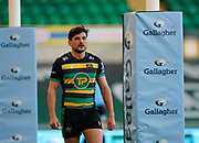 Northampton Saints full-back George Furbank during a Gallagher Premiership Round 13 Rugby Union match, Saturday, Mar. 13, 2021, in Northampton, United Kingdom. (Steve Flynn/Image of Sport)