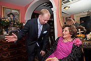 CHARLES KINGSLEY EVANS; JACQUELINE LADY KILLEARN, Jacqueline, Lady Killearn celebrated 101st birthday in her house in harley st. London. 13 January 2010. -DO NOT ARCHIVE-© Copyright Photograph by Dafydd Jones. 248 Clapham Rd. London SW9 0PZ. Tel 0207 820 0771. www.dafjones.com.