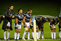 Conwy, UK. Friday, 15 November 2013<br /> Pictured: Japanese players bow to fans at the end of the match<br /> Re: Japan v Russia rugby at Parc Eirias, Conwy, North Wales, United Kingdom.