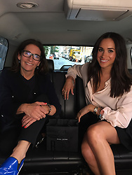 Meghan Markle will have a full glam squad at her beck and call on her fast-approaching big day. But in a newly-unearthed video from September 2016 — just a couple of months before she started dating Prince Harry — the soon-to-be blushing bride is seen applying her own make-up in the back of an Uber. In the video Meghan jumps into the back of an Uber with make-up mogul Bobbi Brown, who gives her a mini-tutorial, talking her through how to use the brand's Retouching Pencils and Retouching Wands. While giving out tips, Bobbi asks Meghan, 36, what she has planned for the day ahead — and the American actress, who was on hiatus from filming USA Network show Suits at the time, said she had a meeting with producers about a potential film role. The video was filmed as part of a collaboration between Uber and Bobbi Brown back in September 2016. On May 19, Meghan will be swapping the backseat of an Uber for that of a royal carriage when she weds Prince Harry at St. George's Chapel in Windsor Castle. Her royal title will be the Duchess Of Sussex. 03 May 2018 Pictured: Meghan Markle seen in a newly-unearthed 2016 video in which she applies her make-up in the back if an Uber while getting tips from make-up mogul Bobbi Brown. Photo credit: MEGA TheMegaAgency.com +1 888 505 6342