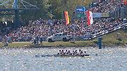 """""""Please read the caption carefully"""". Brandenburg. GERMANY. GBR W8+., """"image effected by the vaporisation"""". 2016 European Rowing Championships at the Regattastrecke Beetzsee<br /> <br /> Sunday  08/05/2016 <br /> <br /> [Mandatory Credit; Igor MEIJER/Intersport-images]"""