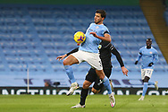 Manchester City defender Rúben Dias (3) during the Premier League match between Manchester City and Burnley at the Etihad Stadium, Manchester, England on 28 November 2020.