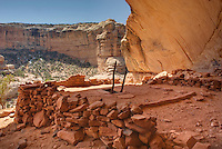Perfect Kiva Site, Bullet Canyon, Grand Gulch Primitive Area, Cedar Mesa Utah Bears Ears National Monument
