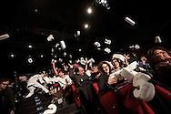 """Il back stage  del teatro della Tosse di Genova, dove i detenuti attori della compania della Fortezza hanno rammpresentato 'Hamlice """" tratto da 'Alice nel Paese delle meraviglie' , regia Armando Punzo. Il pubblico partecipa durante lo spettacolo"""