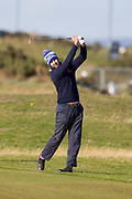 2nd October 2018, The Old Course, St Andrews, Scotland; Alfred Dunhill Links Championship, practice day; Jorge Campillo of Spain hits a shot from the sixteenth fairway during a practice round at the Dunhill Links Championship on The Old Course, St Andrews