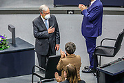 Secretary General of the United Nations, António Guterres, receives standing ovations from the members of the Bundestag following a speech at the lower house of the German Parliament, in Berlin, Germany, December 18, 2020. Guterres was invited as an honorary guest on the occasion of  the founding of the United Nations 75 years ago. <br /> (Photo by Omer Messinger)